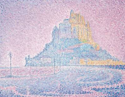 Mount Saint Michel Fog And Sun Art Print by Paul Signac