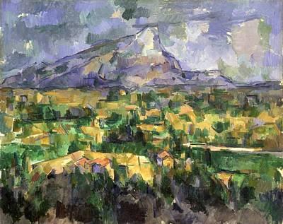 Victoire Painting - Mount Sainte-victoire by Paul Cezanne