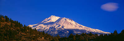 Snow-covered Landscape Photograph - Mount Shasta At Sunrise, California by Panoramic Images