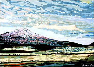 Painting - Mount Shasta California by David Skrypnyk