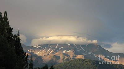 Photograph - Mount Shasta - Icing On The Cake by Laura Hamill
