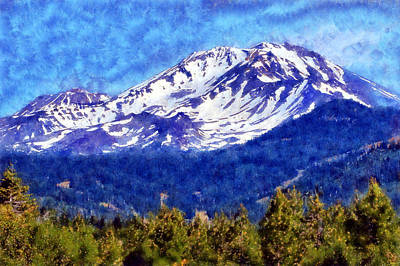 Digital Art - Mount Shasta by Kaylee Mason