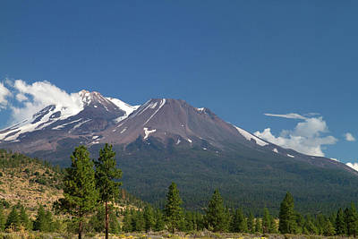Mount Shasta North Facing Side Located Art Print