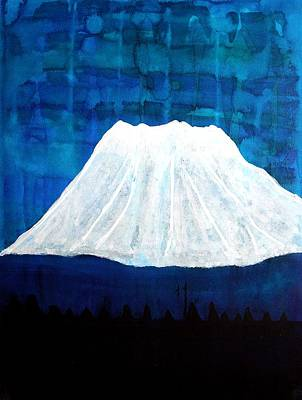 Contemplative Painting - Mount Shasta Original Painting by Sol Luckman