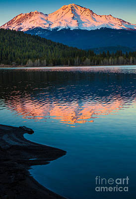Mount Shasta Sunset Print by Inge Johnsson