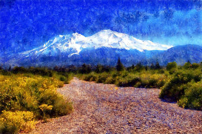 Digital Art - Mount Shasta Trail by Kaylee Mason