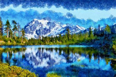 Digital Art - Mount Shuksan by Kaylee Mason