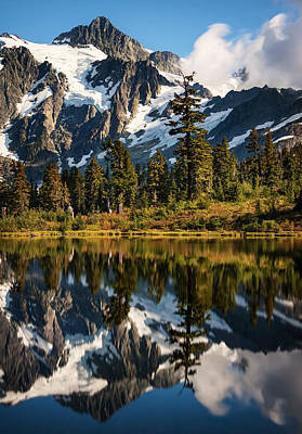 Postcard Photograph - Mount Shuksan Reflections by Alexis Birkill