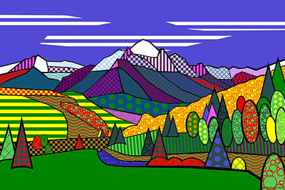 Digital Art - Mount Sneffels by Randall Henrie