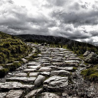 Mount Snowdon Path Art Print by Jane Rix
