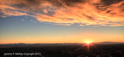 Photograph - Mount Soledad Panoramic Sunrise by Jeremy McKay