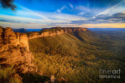 Photograph - Mount Solitary Sunset by Peta Thames