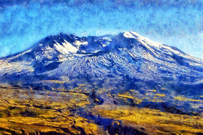Digital Art - Mount St. Helens by Kaylee Mason