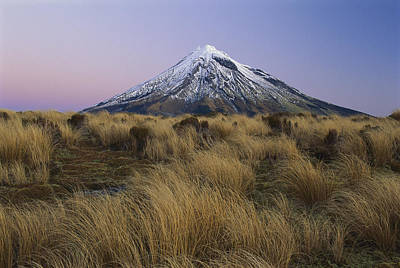 Mount Taranaki At Dusk New Zealand Art Print by Shaun Barnett