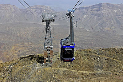 Photograph - Mount Teide Cable Car by Tony Murtagh