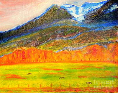 Painting - Mount Timpanogos East by Richard W Linford