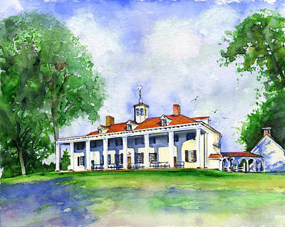 Painting - Mount Vernon Front by John D Benson