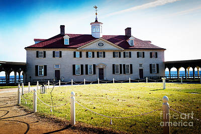 Photograph - Mount Vernon Home Of President George Washington by MaryJane Armstrong