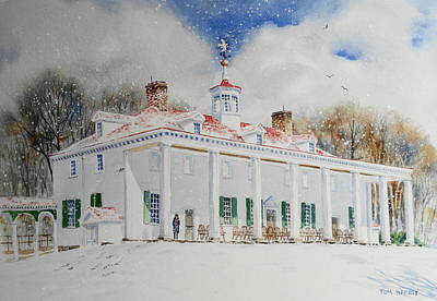 Mount Vernon Painting - Mount Vernon In The Snow by Tom Harris