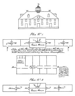 Mount Vernon Painting - Mount Vernon Plan by Granger