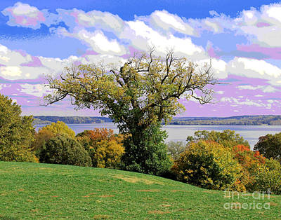 Photograph - Mount Vernon Potomac View by Larry Oskin