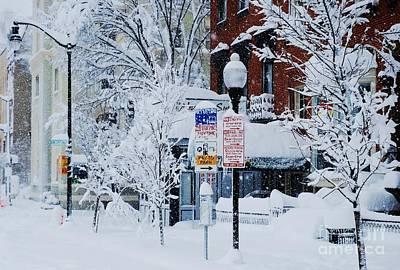 Mount Vernon Snow Land Print by Marcus Dagan