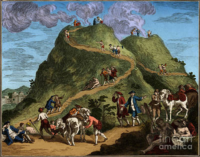 Photograph - Mount Vesuvius 1750 by Science Source