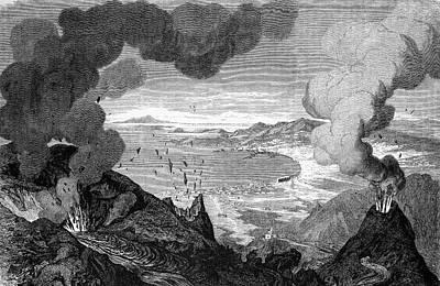 Mount Vesuvius Erupting Art Print