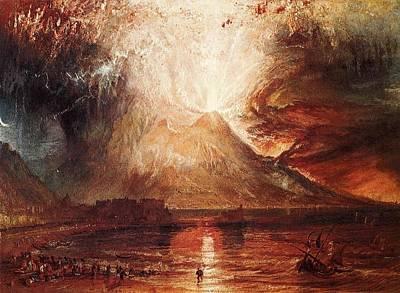 Pompeii Painting - Mount Vesuvius In Eruption 1817 by J M W Turner