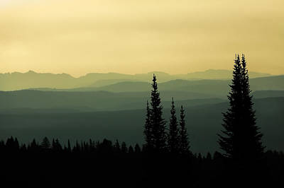 Teton Mountains Photograph - Mount Washburn Mist by Todd Klassy