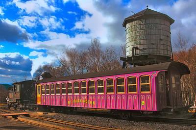Photograph - Mount Washington Cog Railway by Joann Vitali
