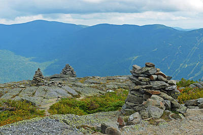 Photograph - Mount Washington Rock Cairns by Toby McGuire