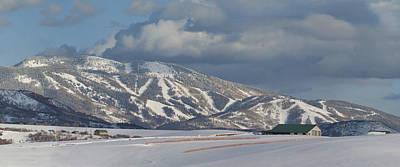 Mount Werner And Storm Mountain V2 Original by Daniel Hebard
