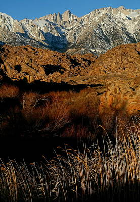 Mount Whitney From The Alabama Hills In California Art Print
