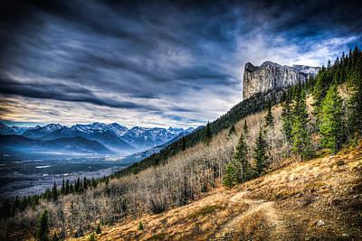 Mount Yamnuska Hiking View Art Print