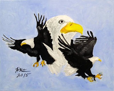 Painting - Mount Your Wings by Herman McClenton