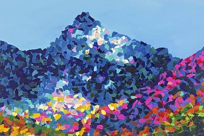 Mountain Abstract Jasper Alberta Art Print by Joyce Sherwin