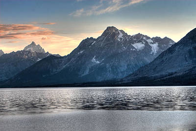 Teton Photograph - Mountain Across The Water by David Andersen