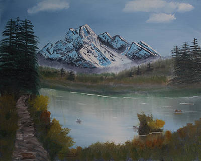 Painting - Mountain And River by Ian Donley