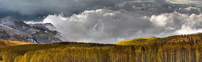 Photograph - Mountain Autumn Panoramic by Leland D Howard