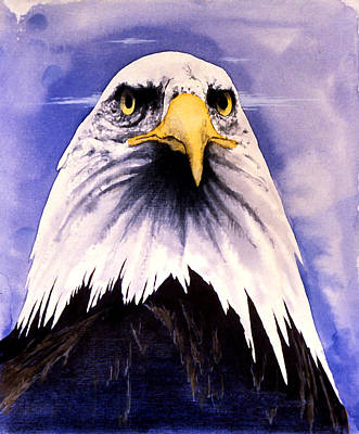 Painting - Mountain Bald Eagle by John D Benson