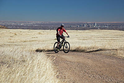 Mountain Bike Photograph - Mountain Biker by Jim West