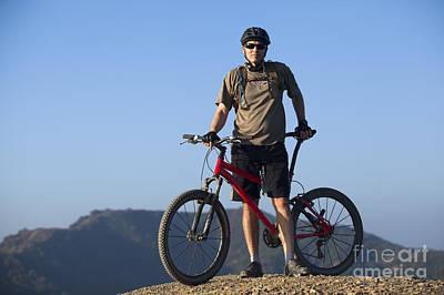Mountain Biker Art Print by Mike Raabe