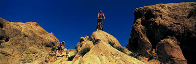 Mountain Bikers Ca Usa Art Print