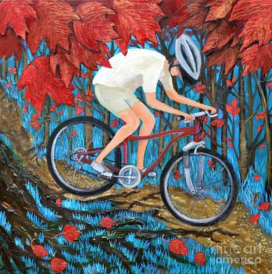 Painting - Mountain Biking by Leandria Goodman