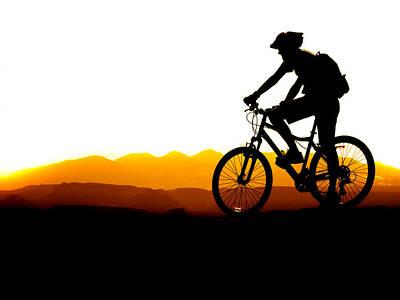 Safari - Mountain Biking Silhouette by Lane Erickson