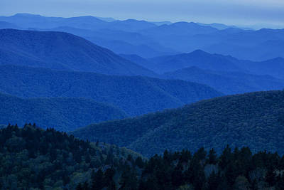 Blue Ridge Parkway Photograph - Mountain Blue by Andrew Soundarajan
