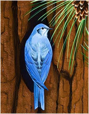 Painting - Mountain Bluebird by Jennifer Lake