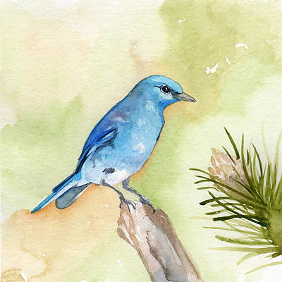 Painting - Mountain Bluebird by Sean Parnell
