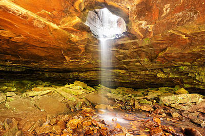 Mountain Bluff Waterfall - Arkansas Art Print by Gregory Ballos